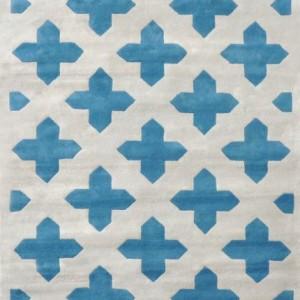 Abbeville Blue/Silver - Designer rug