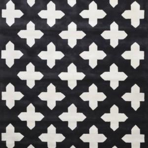 Abbeville Black/Silver - Designer rug