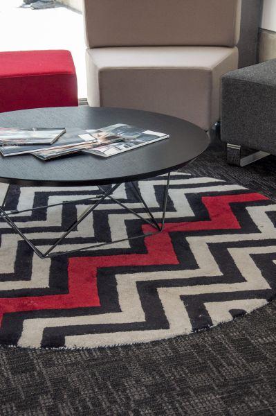 Oval designer rug