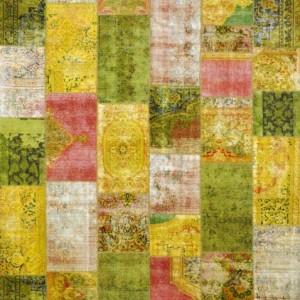 Vintage Overdyed Citrus Strawberry - Designer rug