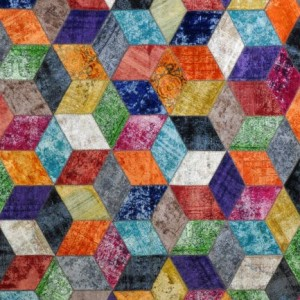 Overdyed Patchwork - Designer rug