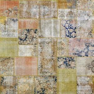 Overdyed Patchwork Gold Blush - Designer rug
