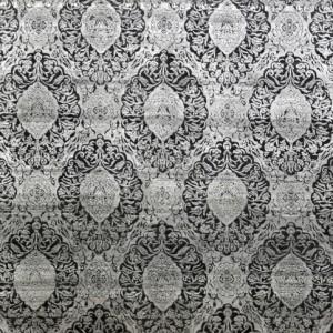 Damask Grey Silver - Designer rug