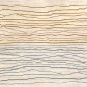 Natural Beige Broken Sunset - Designer rug