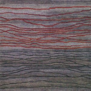 Lilac Broken Sunset - Designer rug