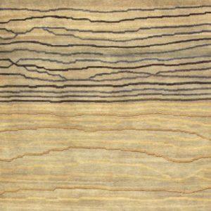 Grey Broken Sunset - Designer rug