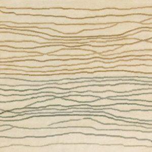 Burnished Beige Broken Sunset - Designer rug
