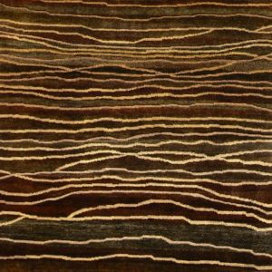 Burnished Brown Broken Sunset - Designer rug