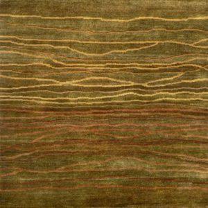 Khaki Broken Sunset - Designer rug
