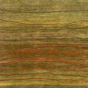 Natural Green Broken Sunset - Designer rug