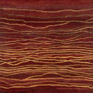 Red Broken Sunset - Designer rug