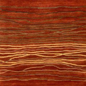Rust Broken Sunset - Designer rug