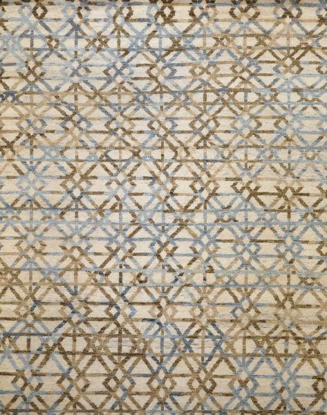 Crossroads blue brown - Designer rug