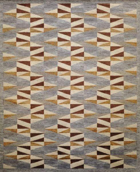 Stockholm rust grey gold - Designer rug