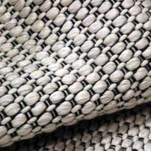 Key West Ivory Black - Designer Rugs by Source Mondial