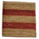 Hemp Awning Stripe Natural/Tomato - Designer rug