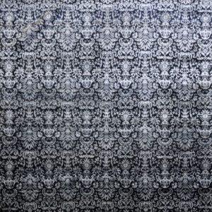 Varese Black silver - Designer rug by Source Mondial