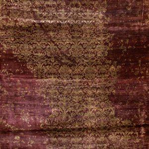 Persianknot burgundywinetaupe - Designer rug