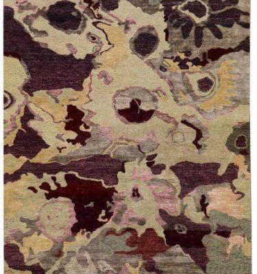 Venus Beige Purple Burgundy - designer rug