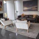 Ritz blue natural designer rug