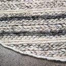 Oneroa Circular - White Grey - designer rug