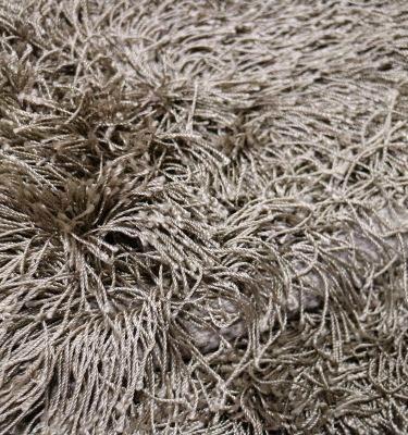 SQAS02 Fine Art Silk Shaggy Taupe 197x299
