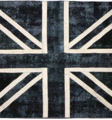 KHYPW-V27 VINTAGE FLAG Bk Blue Ivory 260x249