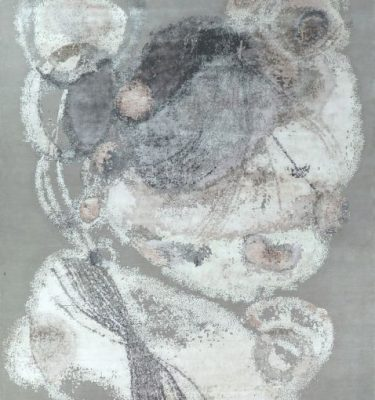 YADSY-BACG01 BACH Grey Silver Charcoal 2.77x3.67 Full